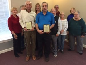 Plaques presented by the BFA Board to Rick Mazur (St. James resident and BCAR affiliated) for his individual efforts to raise money for the BCAR bicycles and Christmas gift